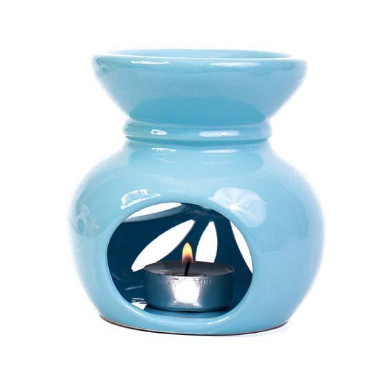 Seramik Buhurdanlık - Açık Mavi