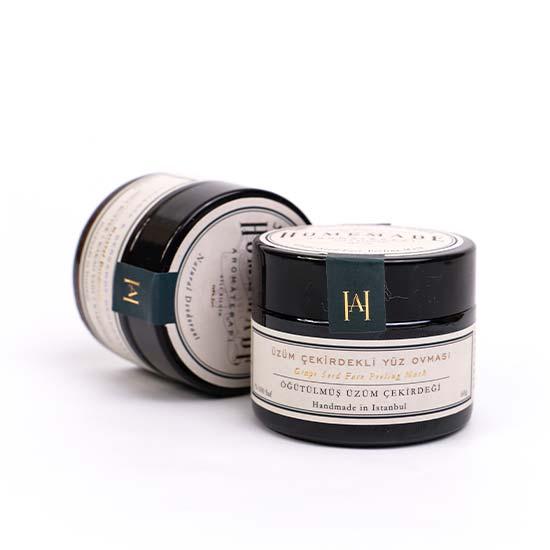 Homemade Aromaterapi Üzüm Çekirdekli Yüz Ovması 60 gr