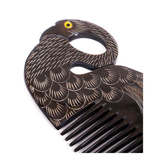Kemik Tarak - Saplı, Kuş Desenli