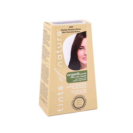 Tints of Nature Organik Saç Boyası -4CH Parlak Çikolata Kahve, 120 ml