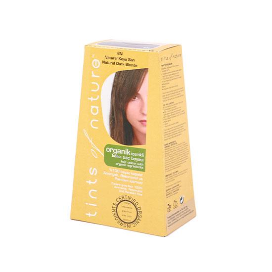 Tints of Nature Organik Saç Boyası -6N Koyu Sarı, 120 ml